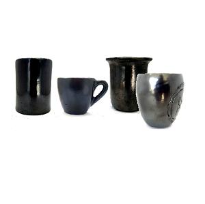 Tazas y Vasos en Barro Negro (Dar Clic en Foto para Ver Detalles)